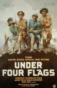 Vintage War Movie Poster Under four flags.